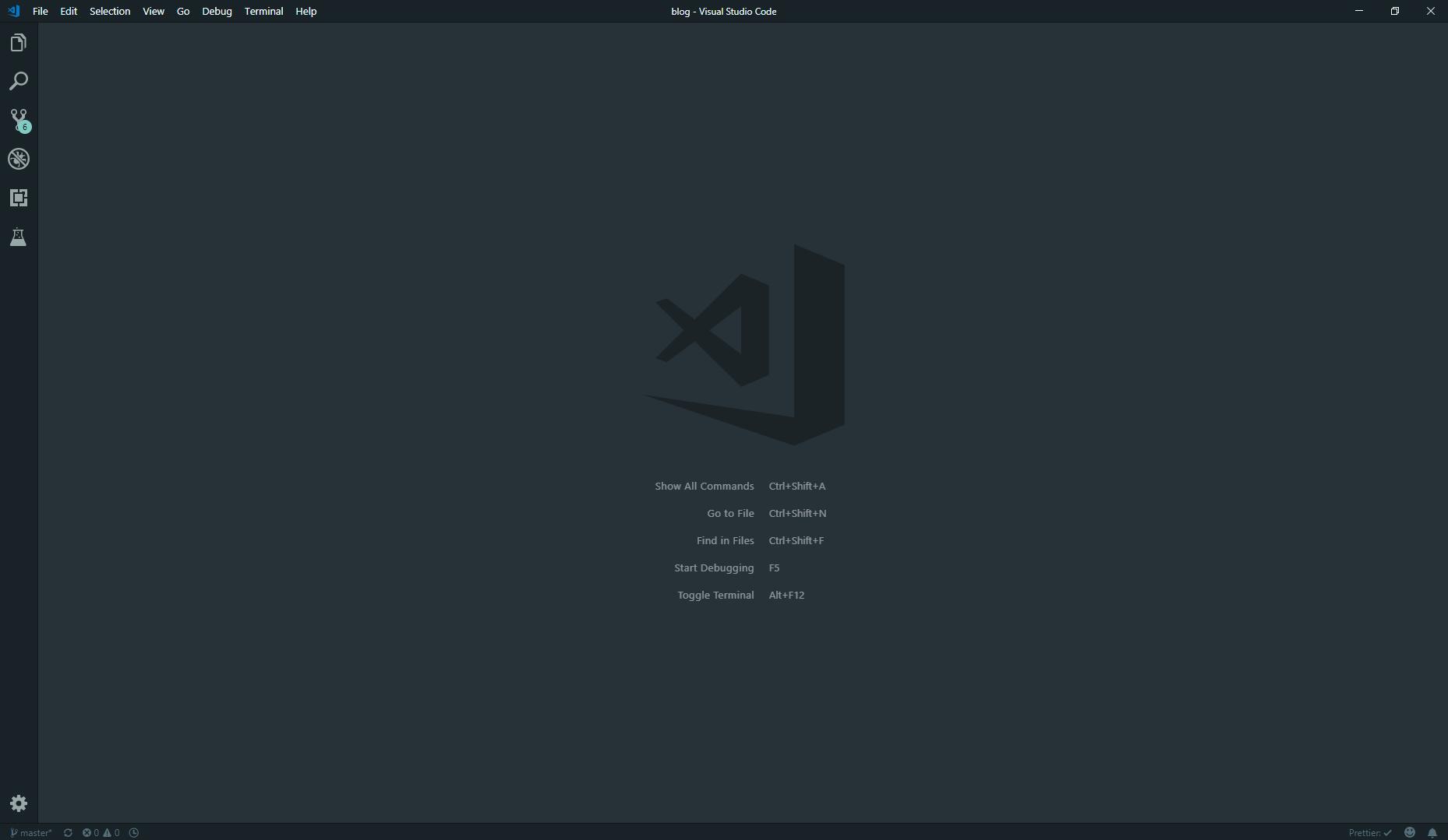 VSCode 首页