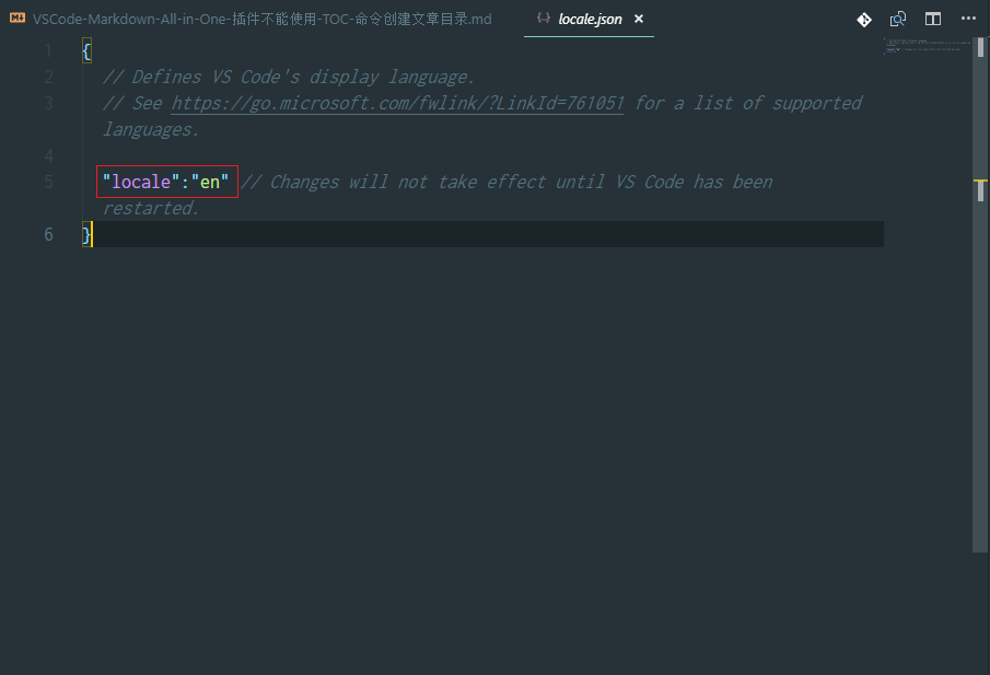 VSCode 显示语言